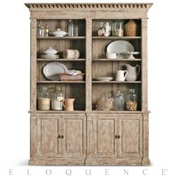 Eloquence® Le Baux Cabinet in Oak Driftwood | Kathy Kuo Home