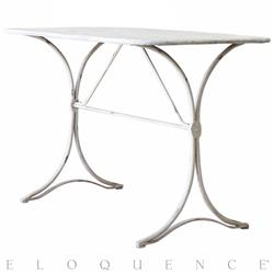 Eloquence® Le Bistro Table in Ivory Patina Iron | Kathy Kuo Home