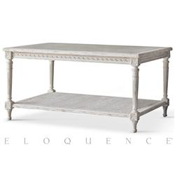 Eloquence® Le Courte Coffee Table in Oyster | Kathy Kuo Home