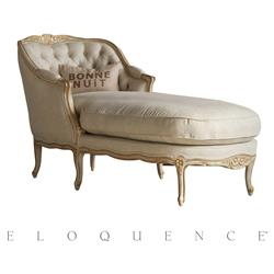 Eloquence® Louis Chaise in Gold and Taupe | Kathy Kuo Home