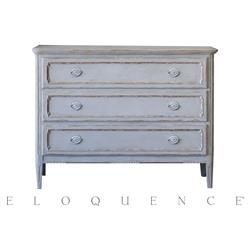 Eloquence® Louis Charles Gustavian Grey Commode | Kathy Kuo Home
