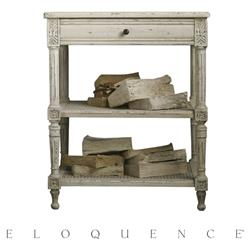 Eloquence Napoleon Nightstand in Weathered White | Kathy Kuo Home