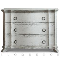 Eloquence® Petit Bordeaux Commode in Stone | Kathy Kuo Home