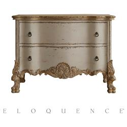 Eloquence® Roma Gold Taupe Two Tone Commode | Kathy Kuo Home