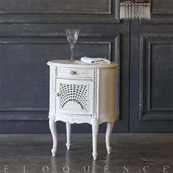 Eloquence® Single White Cane Vintage Nightstand:1940 | Kathy Kuo Home
