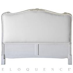 Eloquence® Sophia Queen Headboard Silver Antique White Two-Tone | Kathy Kuo Home