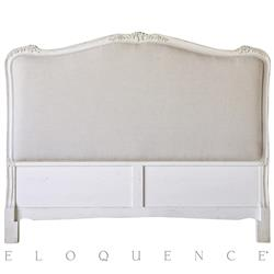 Eloquence® Sophia Queen Headboard in Antique White | Kathy Kuo Home