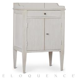 Eloquence St. Lucia Night Stand in Grain Sack | Kathy Kuo Home