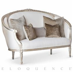 Eloquence Versailles Canape Sofa in Silver Leaf | Kathy Kuo Home