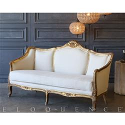Eloquence® Vintage Antique Gold Daybed: 1940 | Kathy Kuo Home