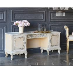 Eloquence® Vintage Chiffon Vanity: 1940 | Kathy Kuo Home
