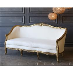 Eloquence® Vintage Distressed Gilt Daybed: 1940 | Kathy Kuo Home