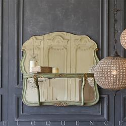 Eloquence® Vintage Fern Green Mirrored Shelf: 1940 | Kathy Kuo Home