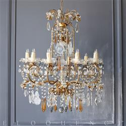 Eloquence® Vintage Italian Chandelier: 1950 | Kathy Kuo Home