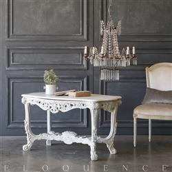 Eloquence® Vintage Ornate French Blue Coffee Table: 1940 | Kathy Kuo Home