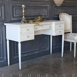 Eloquence® Vintage Pale Dove Vanity: 1950 | Kathy Kuo Home