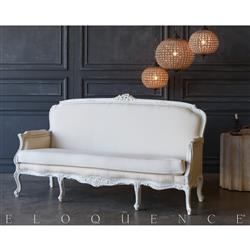 Eloquence® White Canvas Vintage Daybed: 1941 | Kathy Kuo Home