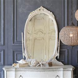 Eloquence White Peach Vintage Mirror: 1940 | Kathy Kuo Home