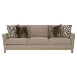 Ernie Modern Classic Brown Beige Oak Sofa | Kathy Kuo Home