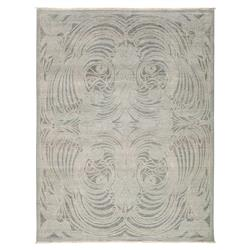 Eros Regency Nouveau Deco Grey Wool Rug - 8 x 10'3 | Kathy Kuo Home