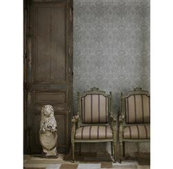 European Soft Damask Wallpaper - Charcoal - 2 Rolls | Kathy Kuo Home