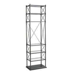 Everton Oiled Rubbed Bronze Contemporary Etagere Display Stands