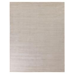 Exquisite Rugs Addison Modern Classic Varied Pattern White Sand Bamboo Silk Rug - 6' x 9' | Kathy Kuo Home
