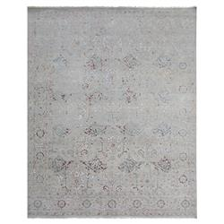 Exquisite Rugs Beverly French Country Damask Pattern Distressed Beige Rug - 8' x 10' | Kathy Kuo Home