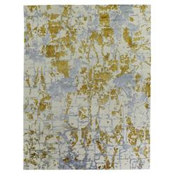 Exquisite Rugs Cecily Global Bazaar Abstract Pattern Gold Bamboo Silk Rug - 6' x 9' | Kathy Kuo Home