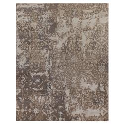 Exquisite Rugs Hundley Modern Classic Damask Pattern Taupe Grey Rug - 8' x 10' | Kathy Kuo Home