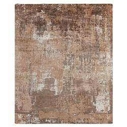 Exquisite Rugs Koda Modern Classic Abstract Monochrome Earth Bamboo Silk Rug - 8' x 10' | Kathy Kuo Home