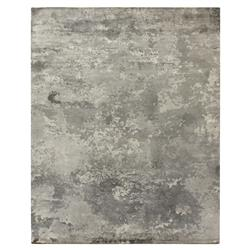 Exquisite Rugs Koda Modern Classic Abstract Monochrome Greige Bamboo Silk Rug - 8' x 10' | Kathy Kuo Home