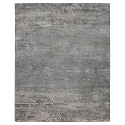 Exquisite Rugs Koda Modern Classic Abstract Overcast Grey Bamboo Silk Rug - 8' x 10' | Kathy Kuo Home