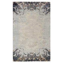 Exquisite Rugs Koda Modern Classic Symmetrical Faded Black Taupe Bamboo Silk Rug - 8' x 10' | Kathy Kuo Home