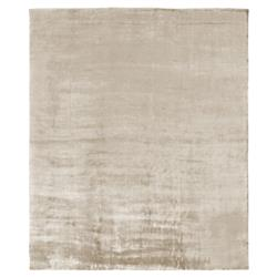 Exquisite Rugs Purity Modern Classic Heathered Elegant Champagne Bamboo Silk Rug - 6' x 9' | Kathy Kuo Home