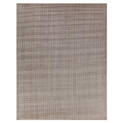 Exquisite Rugs Robin Modern Classic Embossed Squares Beige Bamboo Silk Rug - 10' x 14' | Kathy Kuo Home