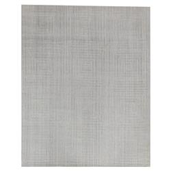 Exquisite Rugs Robin Modern Classic Embossed Squares Light Grey Bamboo Silk Rug - 8' x 10' | Kathy Kuo Home