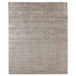 Exquisite Rugs Smooch Carved Modern Classic Chevron Pattern Deep Grey Rug - 10' x 14' | Kathy Kuo Home