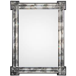 Fabian Hollywood Regency Beveled Foxed Frame Mirror | Kathy Kuo Home