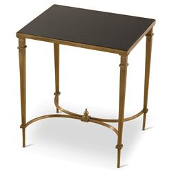 Fairfax Global Regency Antique Brass Granite End Table | Kathy Kuo Home