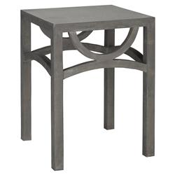 Fairuz Global Loft Square Concrete Outdoor Side Table | Kathy Kuo Home