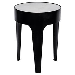 Fallon Modern Classic Cylinder Quartz Side Table - Small | Kathy Kuo Home