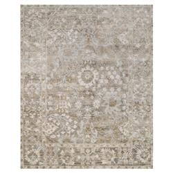 Fatime French Antique Wash Dune Grey Bamboo Silk Rug - 2x3 | Kathy Kuo Home
