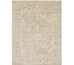 Fatime French Antique Wash Dune Grey Bamboo Silk Rug - 4x6 | Kathy Kuo Home