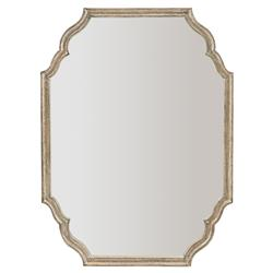 Felicity Rustic French Country Curved Wood Mirror | Kathy Kuo Home