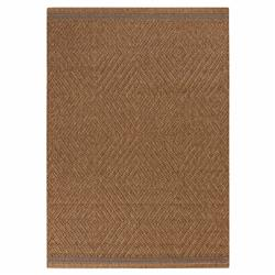 Felix Modern Tan Diamond Flatwoven Outdoor Rug - 3'11x5'7 | Kathy Kuo Home