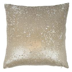 Finn Modern Champagne Sequin Baby Mermaid Pillow - 20x20 | Kathy Kuo Home