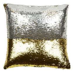 Finn Modern Mixed Metal Sequin Mermaid Pillow - 20x20 | Kathy Kuo Home