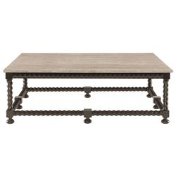 Fiori French Country Barley Twist Ebony Coffee Table | Kathy Kuo Home