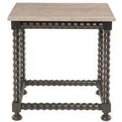Fiori French Country Barley Twist Ebony Side End Table | Kathy Kuo Home